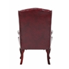 Boss Wingback Traditional Guest Chair In Burgundy