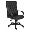 Boss Button Tufted Executive Chair In Black