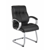 Boss Double Plush Executive Guest Chair - Black