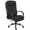 Boss High Back CaressoftPlus Exec. Chair W/ Chrome Base