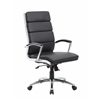 Boss Executive CaressoftPlus™Chair with Metal Chrome Finish