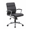 Boss Executive CaressoftPlus™ Chair with Metal Chrome Finish - Mid Back
