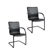 Boss Black Frame Black Vinyl Side Chair, 2 pcs Per Pack