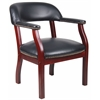 Boss Captain'S Chair In Black Vinyl