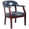 Boss Captain'S Chair In Blue Vinyl