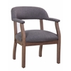 Boss Modern Captain's Chair in Slate Grade Commercial Grade Linen