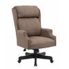 Boss High Back Dark Tan Commercial Grade Linen  Chair With Black Base