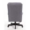 Boss High Back Slate Grey Commercial Grade Linen  Chair With Black Base