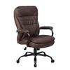 Boss Heavy Duty Double Plush LeatherPlus Chair - 350 Lbs