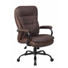 Boss Heavy Duty Double Plush LeatherPlus Chair - 350 Lbs.