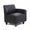 Boss Black Sectional Sofa Left Arm