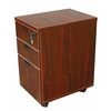 Boss Mobile Pedestal Box/Box/File, Honey Comb Packing, Mahogany