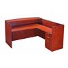Boss Reception Desk, 71W X 30/36D X 42H, Cherry