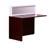 Plexiglass Reception Return, Mahogany