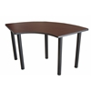 "Boss Training Table Crescent 24""D X 59""W Mahogany"