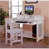 Desk, Hutch and Chair in White