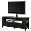 "60"" Black Wood TV Stand Console with Mount"