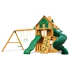 Mountaineer Clubhouse Treehouse Swing Set w/ Fort Add-On & Amber Posts