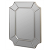 Nelson Mirror, Silver Finish with Red Accents, Beveled Mirror