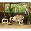 White Cedar Settee Rocker and Coffee Table Set