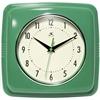 "Infinity Instruments 9"" Square Retro Clock, Green"