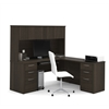 "Embassy 71"" L-shaped desk in Dark Chocolate"