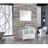 """MTD Vanities Cuba 36"""" Single Sink Bathroom Vanity Set, White"""