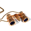 Broadway 325F Opera Glasses (gold, with LED light and chain)