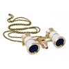 Levenhuk Broadway 325F Opera Glasses (white, with LED light and chain)