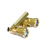 Levenhuk Broadway 325N Opera Glasses (gold lorgnette with LED light)