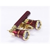 Levenhuk Broadway 325N Opera Glasses (red lorgnette with LED light)