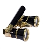Levenhuk Broadway 325N Opera Glasses (black lorgnette with LED light)