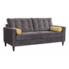 ZuoMod SAVANNAH SOFA SLATE/GOLDEN