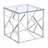 ZuoMod CAGE SIDE TABLE STAINLES STEEL