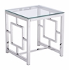 ZuoMod GERANIUM SIDE TABLE STAINLESS STEEL