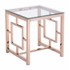 ZuoMod GERANIUM SIDE TABLE ROSE GOLD