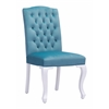 ZuoMod BOURBON DINING CHAIR BLUE VELVET, Set of 2