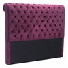 SERGIO HEADBOARD QUEEN WINE VELVET