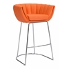 ZuoMod LATTE BAR CHAIR ORANGE, Set of 2