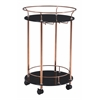 ZuoMod PLATO SERVING CART ROSE GOLD