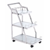 ZuoMod ACROPOLIS SERVING CART STAINLESS STEEL