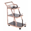 ZuoMod ACROPOLIS SERVING CART ROSE GOLD