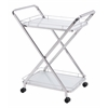 ZuoMod VESUVIUS SERVING CART STAINLESS STEEL