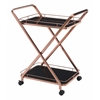 ZuoMod VESUVIUS SERVING CART ROSE GOLD