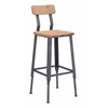 Clay Bar Chair Natural Pine & Industrial Gray