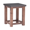 ZuoMod Greenpoint Side Table Gray & Distressed Fir