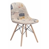 ZuoMod Solo Dining Chair Vintage Postage Print