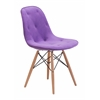 ZuoMod PROBABILITY DINING CHAIR PURPLE