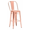 ZuoMod ELIO BAR CHAIR ROSE GOLD, Set of 2