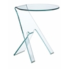 ZuoMod JOURNEY SIDE TABLE CLEAR GLASS
